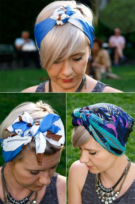 How To Tie A Scarf 3 Chic Ways Hairs Pinterest Guinguette