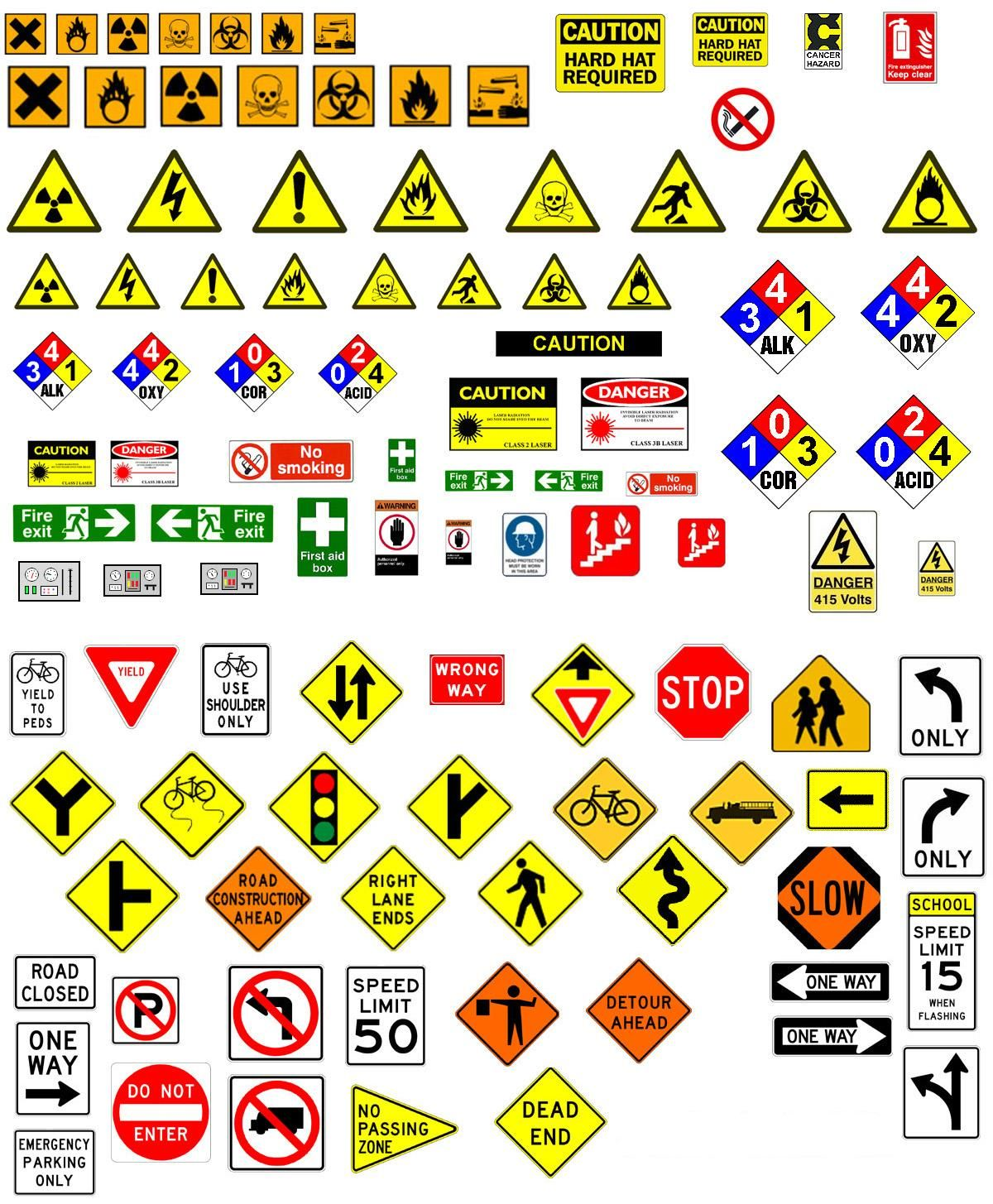 Hazardsignsg 12001455 pixels geometry pinterest ideal for your modern or post apocalyptic city terrain these road and hazard signs are great biocorpaavc