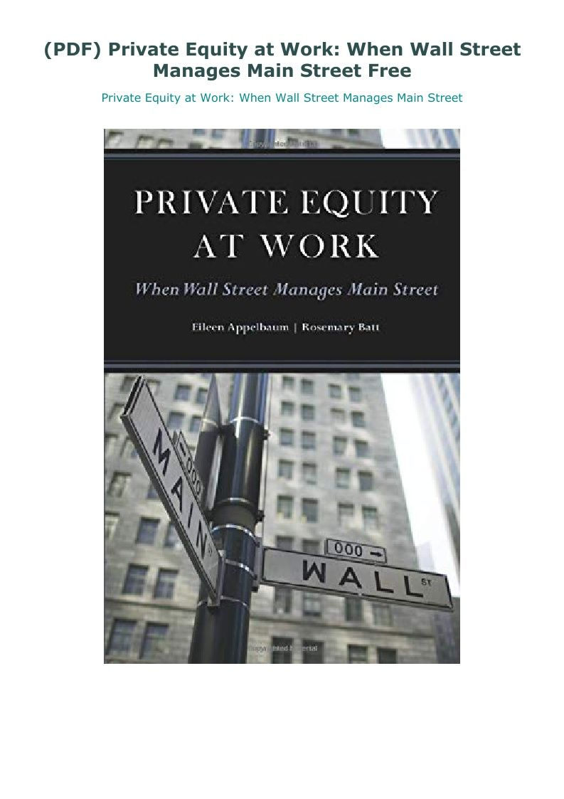 14+ Private equity books pdf information