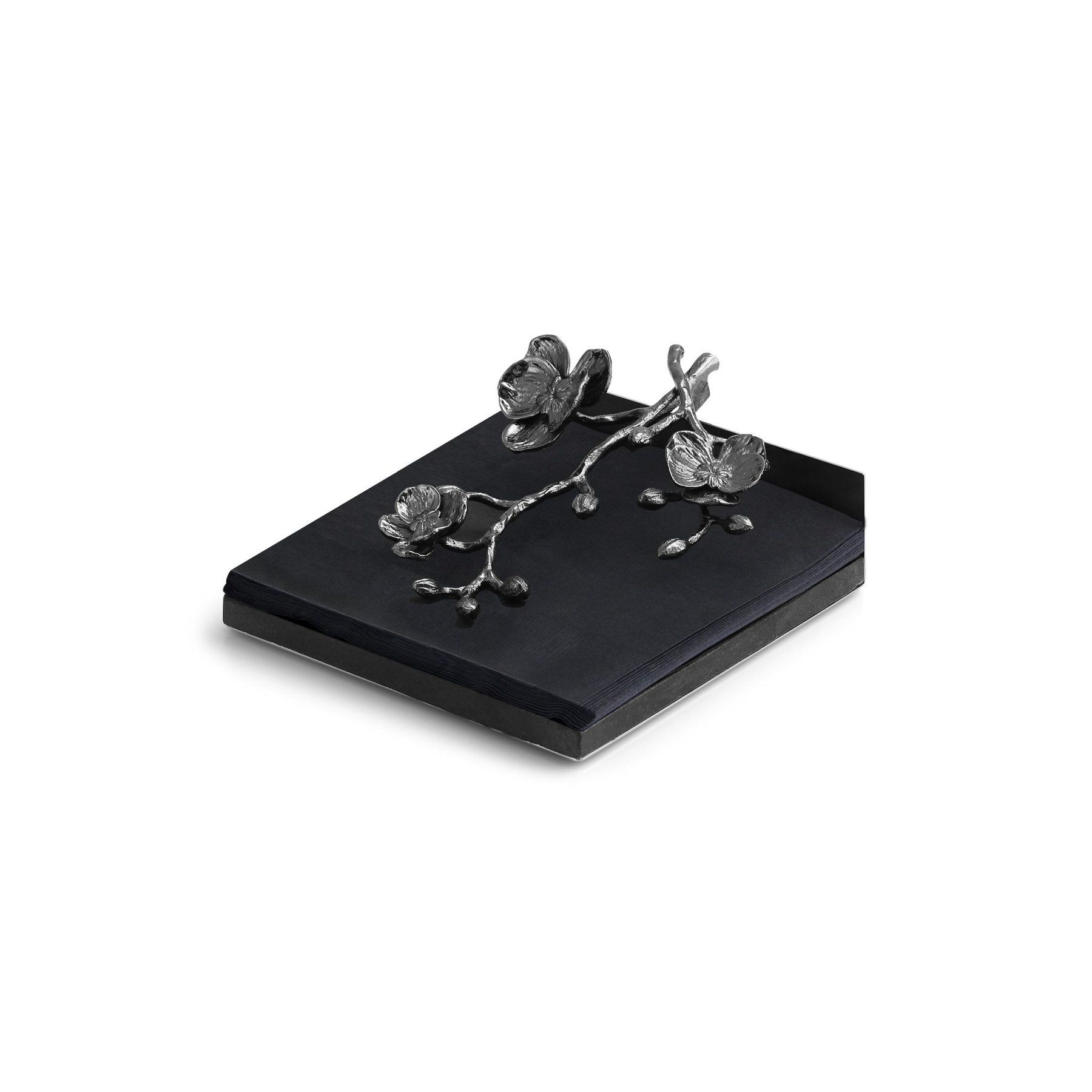 Black Orchid Dinner Napkin Holder In 2020 Black Orchid Michael Aram Black Orchid Napkin Holder