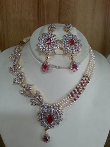 Forceful Diamonte Necklance And Earring Set Fashion Jewelry Jewelry & Watches