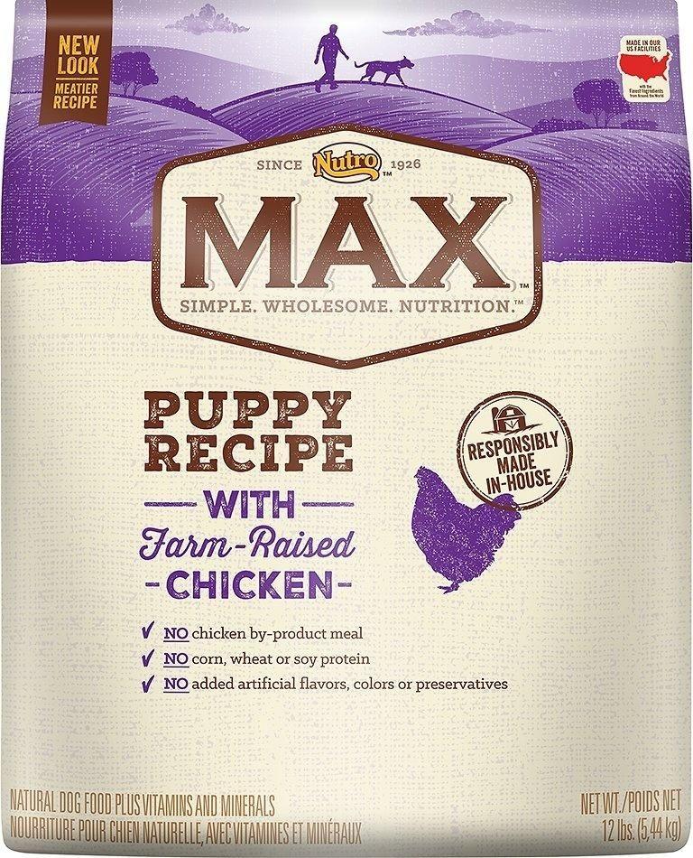 Nutro Max Puppy Recipe With Farm Raised Chicken Dry Dog Food Dry