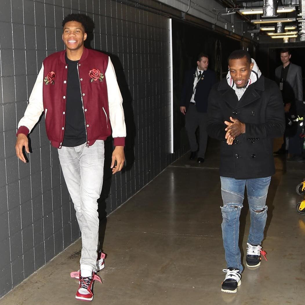 0640bd00e7272b  Bucks stars  GiannisAntetokounmpo and  EricBledsoe in those  OffWhites