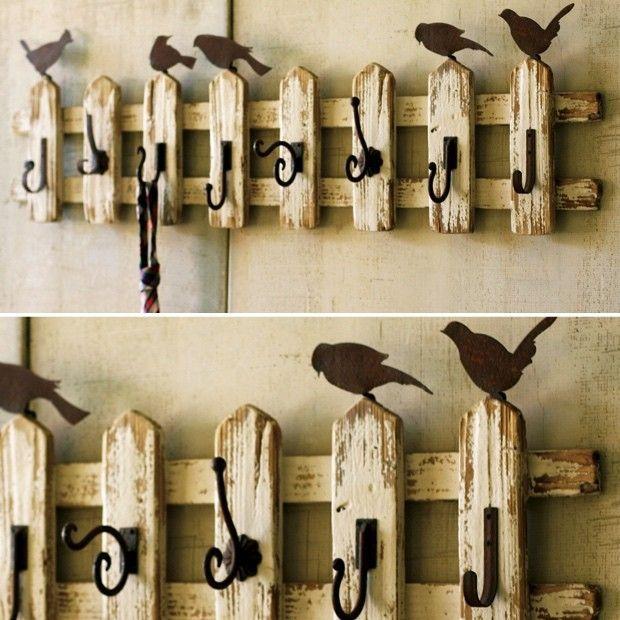 40 Hook Picket Fence Coat Rack With Birds Coat Racks Fences And Inspiration Picket Fence Coat Rack