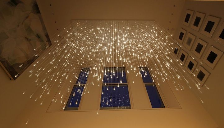 Light Shower Chandelier by Bruce Munro