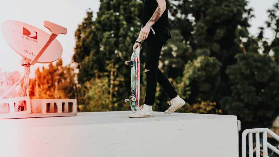 Download skateboarder, skate wallpaper