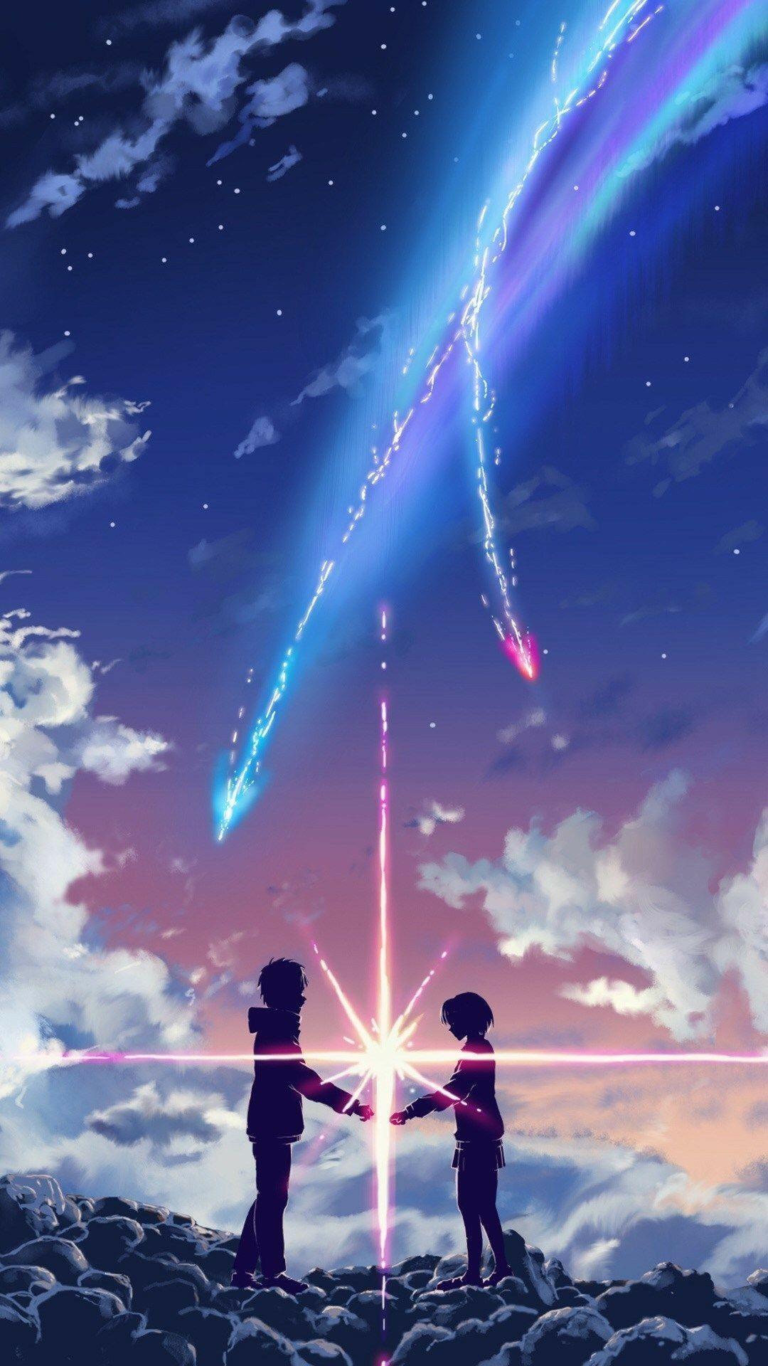 Pin By Milagros Vega On Papeis De Parede Your Name Movie Anime Wallpaper Download Anime Backgrounds Wallpapers