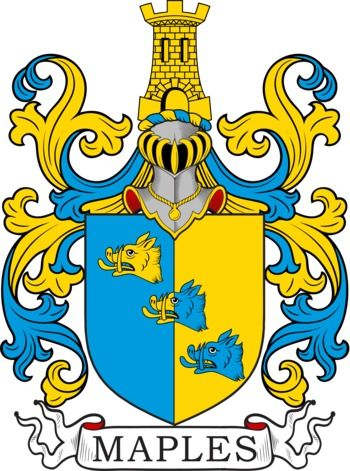 Maples Family Crest and Coat of Arms | coadb | Family crest