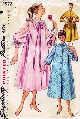 Simplicity 4972 Misses\' Robe, Negligee, Duster, Housecoat Sewing ...