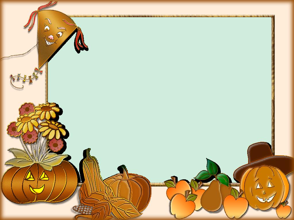 Autumn Frame Png Artwork Journal Cards Fall Harvest