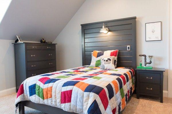 Diy liam barn light bed full diy kids bedroom tutorials pinterest