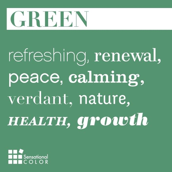 What Colors Are Calming meaning of the color #green: refreshing, renewal, peace, calming