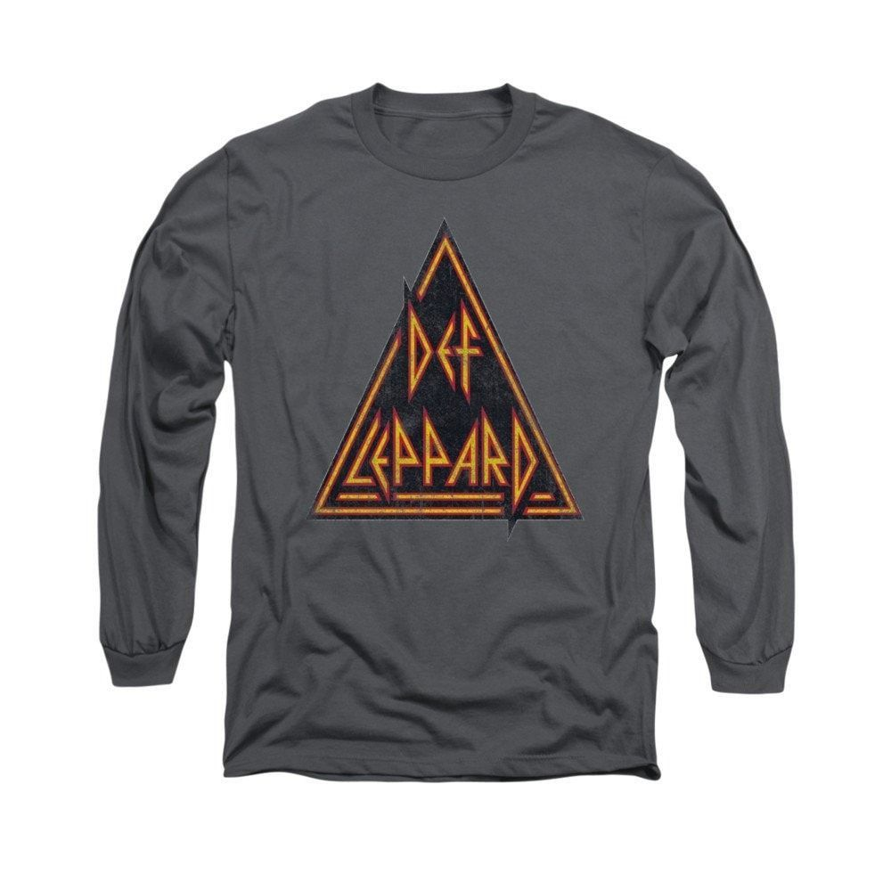Def Leppard - Distressed Logo Adult Long Sleeve T-Shirt