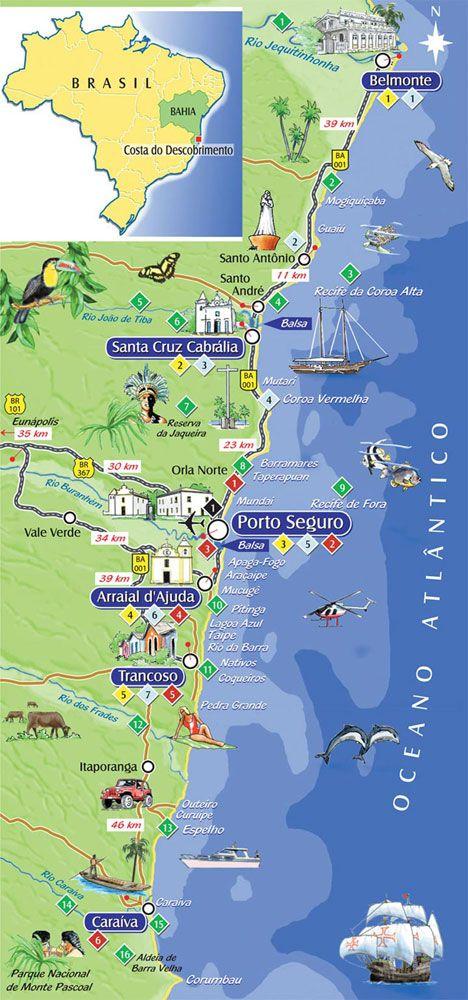 Porto Seguro Bahia Brasil Brasil Turismo Arraial D Ajuda