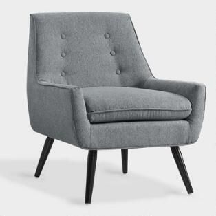 Gray Flannel Brooks Upholstered Chair Upholstered Chairs