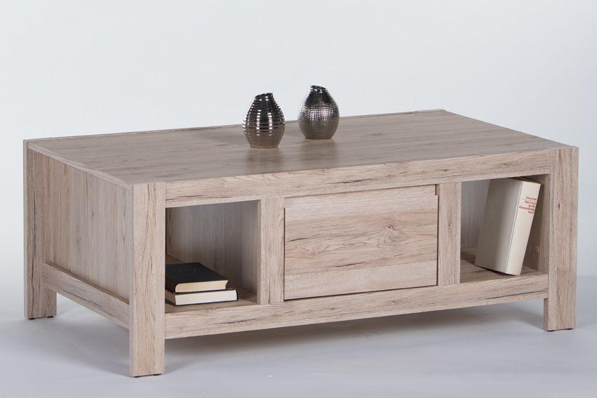 Couchtisch 120 X 60 Cm San Remo Eiche Woody 178-00012 Holz Modern