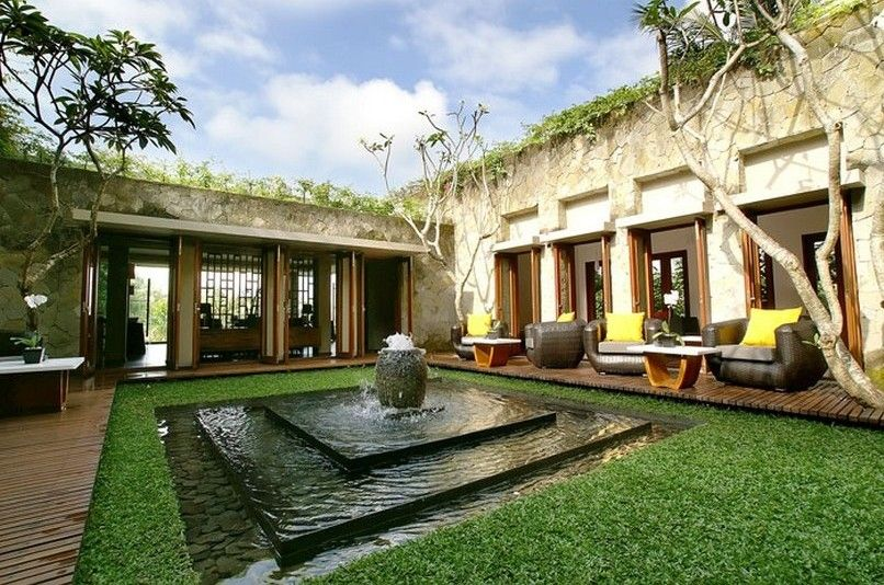 House Plans With Courtyards Courtyard Design Ubud Resort Courtyard House