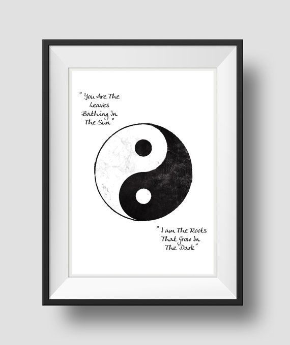 Yin Yang Yin Yang Wall Art Yin Yang Decor Minimalist art | Bedroom ...