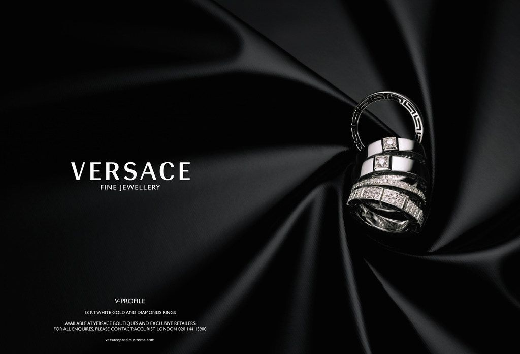 Versace Jewellery Advertising Jewelry Photography Jewelry Photoshoot