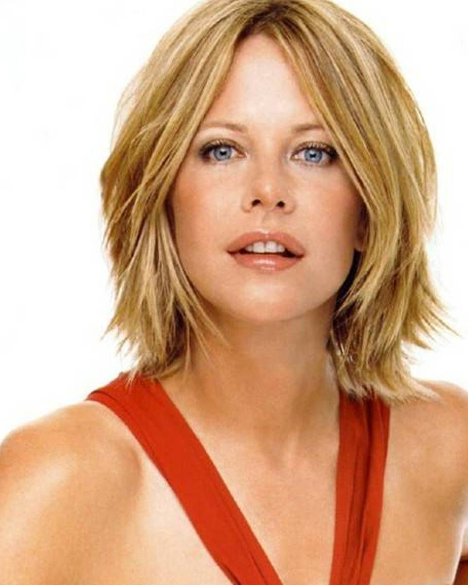 Simple Short Hairstyle Meg Ryans Changing Looks