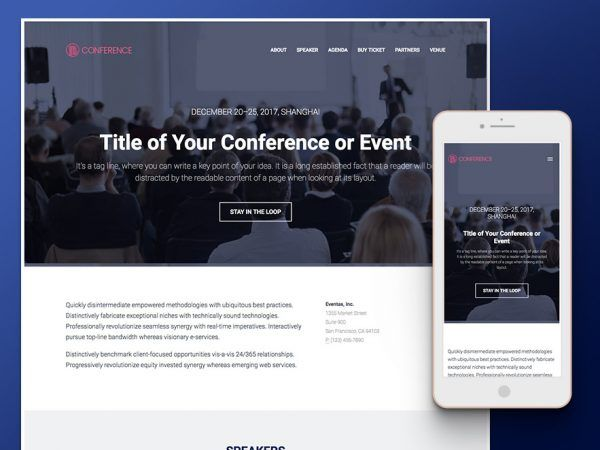 Conference u2013 Responsive Bootstrap Event Management HTML5 Template - resume website template
