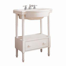 American Standard Retrospect 36 In H White Wood Pedestal Sink Base   Cute  Idea For Powder Room