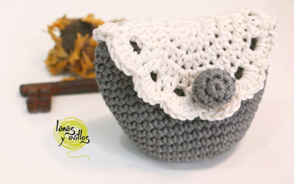 Tutorial monedero crochet ganchillo vintage patrón gratis con video ...