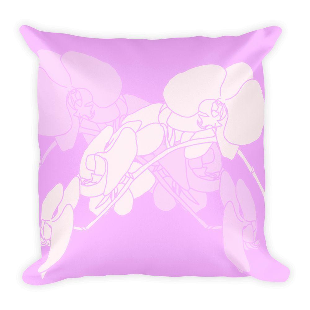 Premium pillow orchid design light purple products pinterest