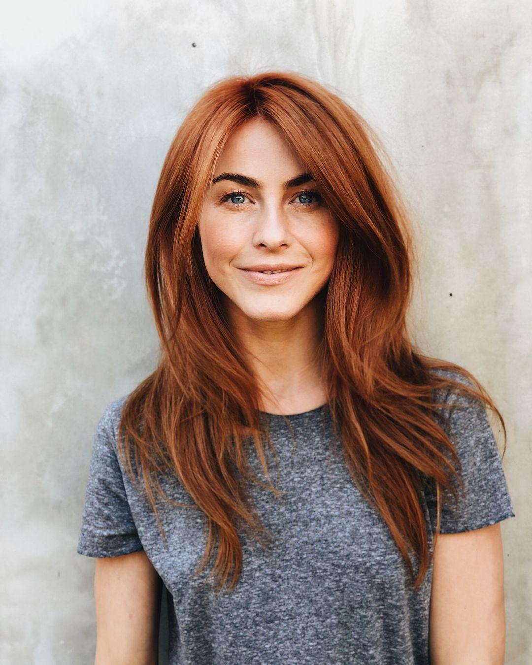 Julianne hough debuts new red hair