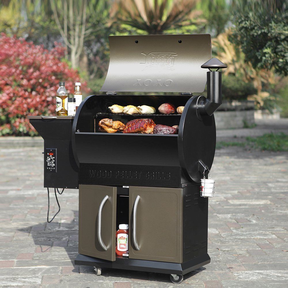 684 Sqin Grilling Deluxe Patio BBQ Smoker YoYo Barbque Wood Fueled Pellet  Grills | EBay
