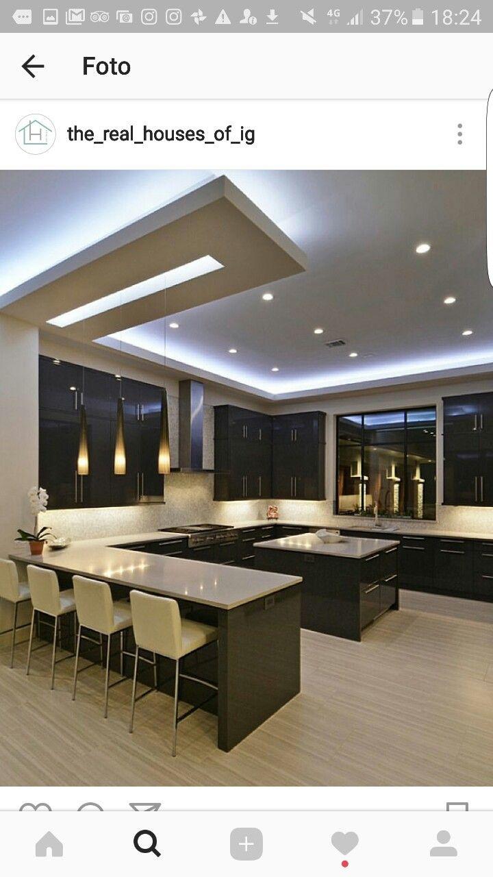 Großartig Küchendesign Für Hohe Decken Fotos - Küchenschrank Ideen ...