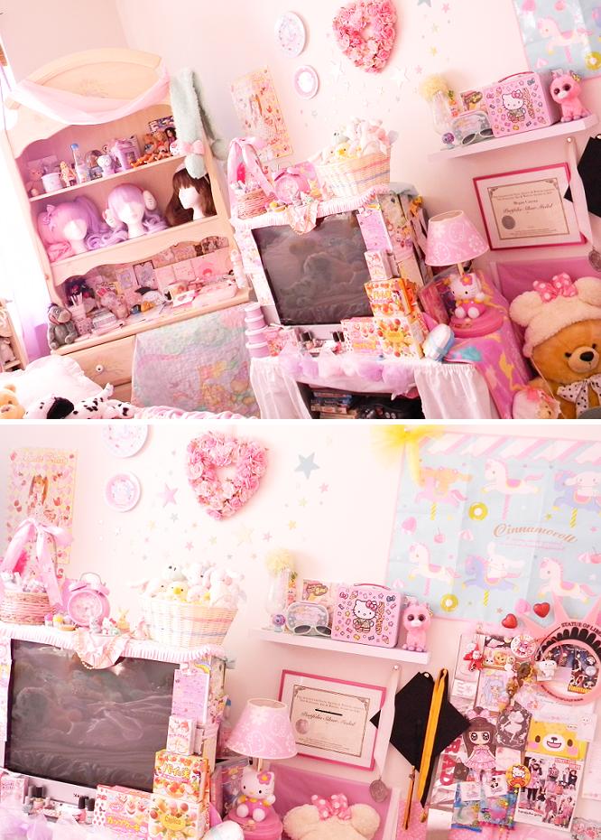 Lolita theme room kawaii international my room was for Chambre kawaii