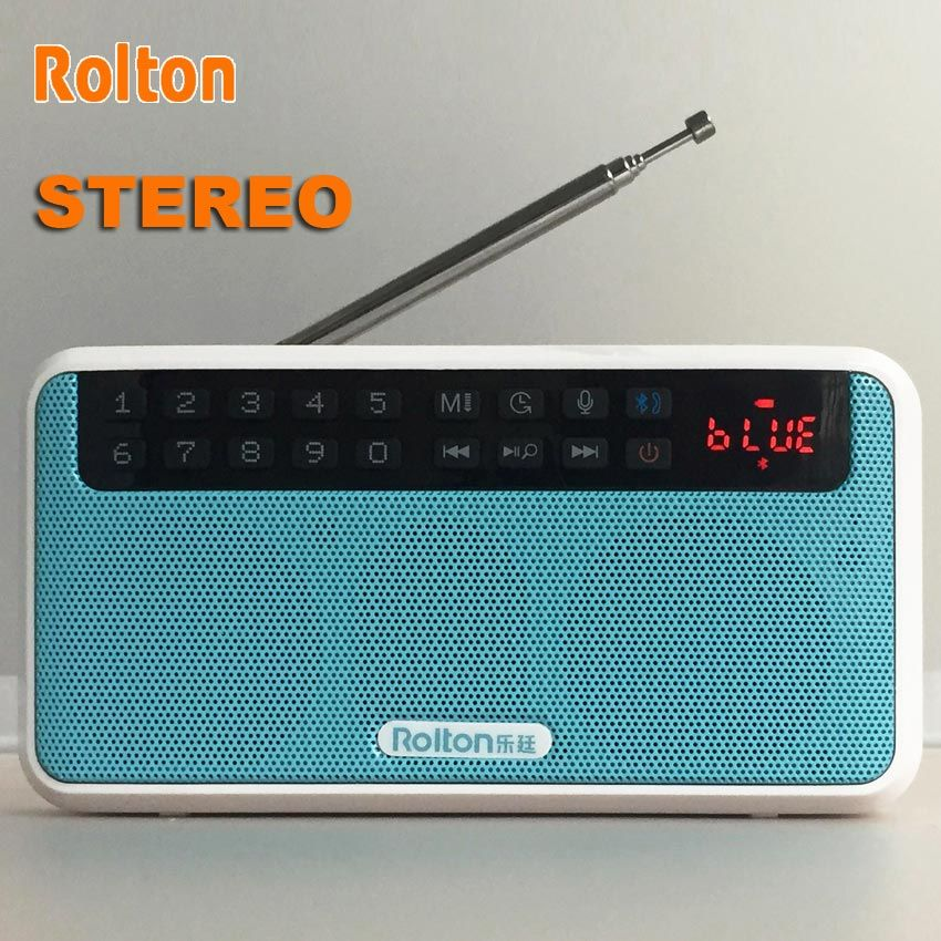 Rolton E500 Portable Stereo Bluetooth Speakers FM Radio Bass Dual Speaker TF Car
