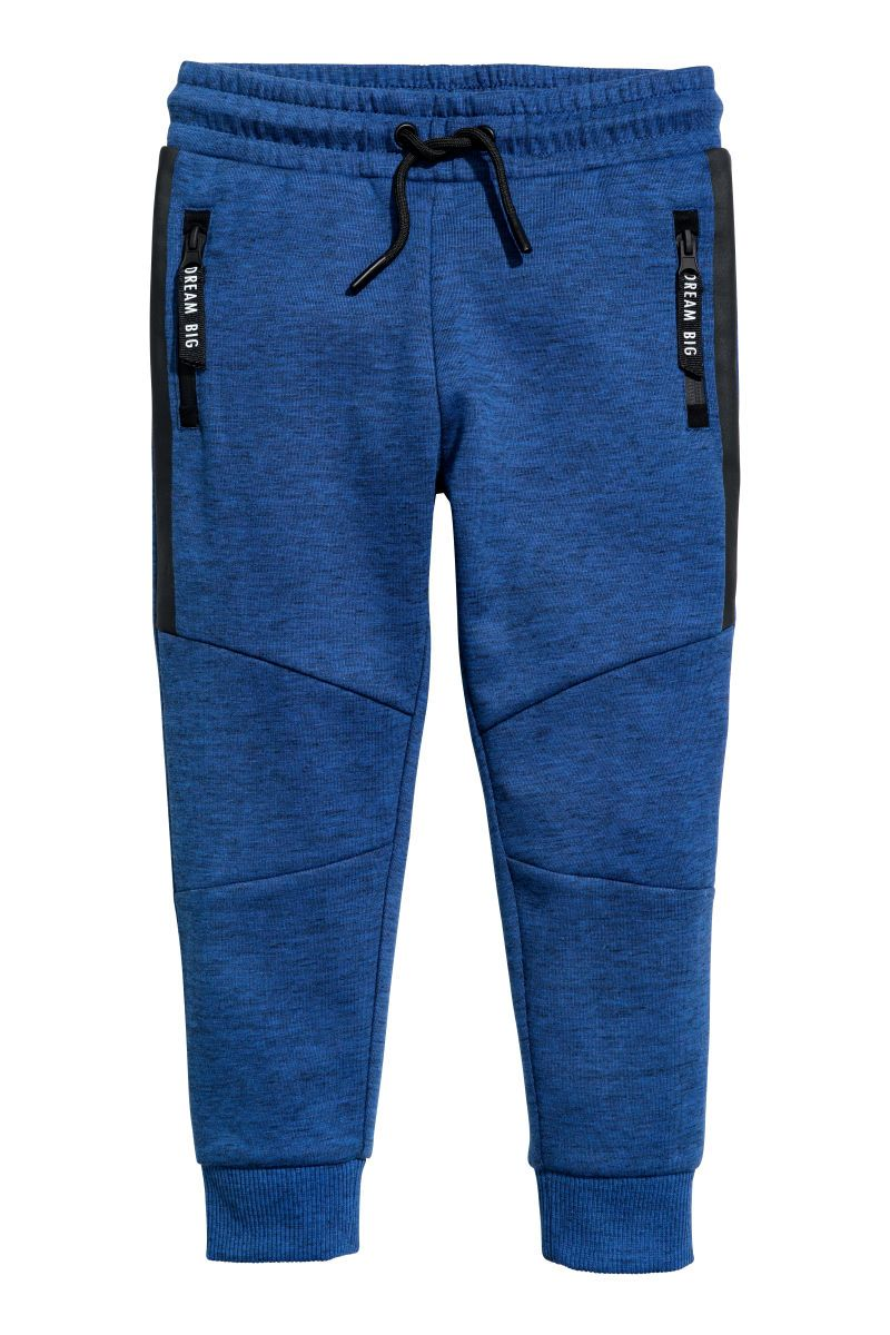 Joggers Dark Blue Melange Kids H M Us Sweatshirt Fabric Mens Outfits Mens Workout Clothes