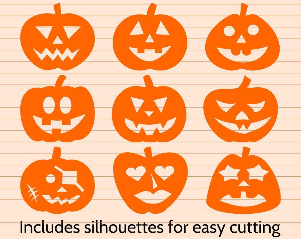 pumpkin template cricut  Pumpkin clipart and SVG cut file for Cricut and Silhouette ...