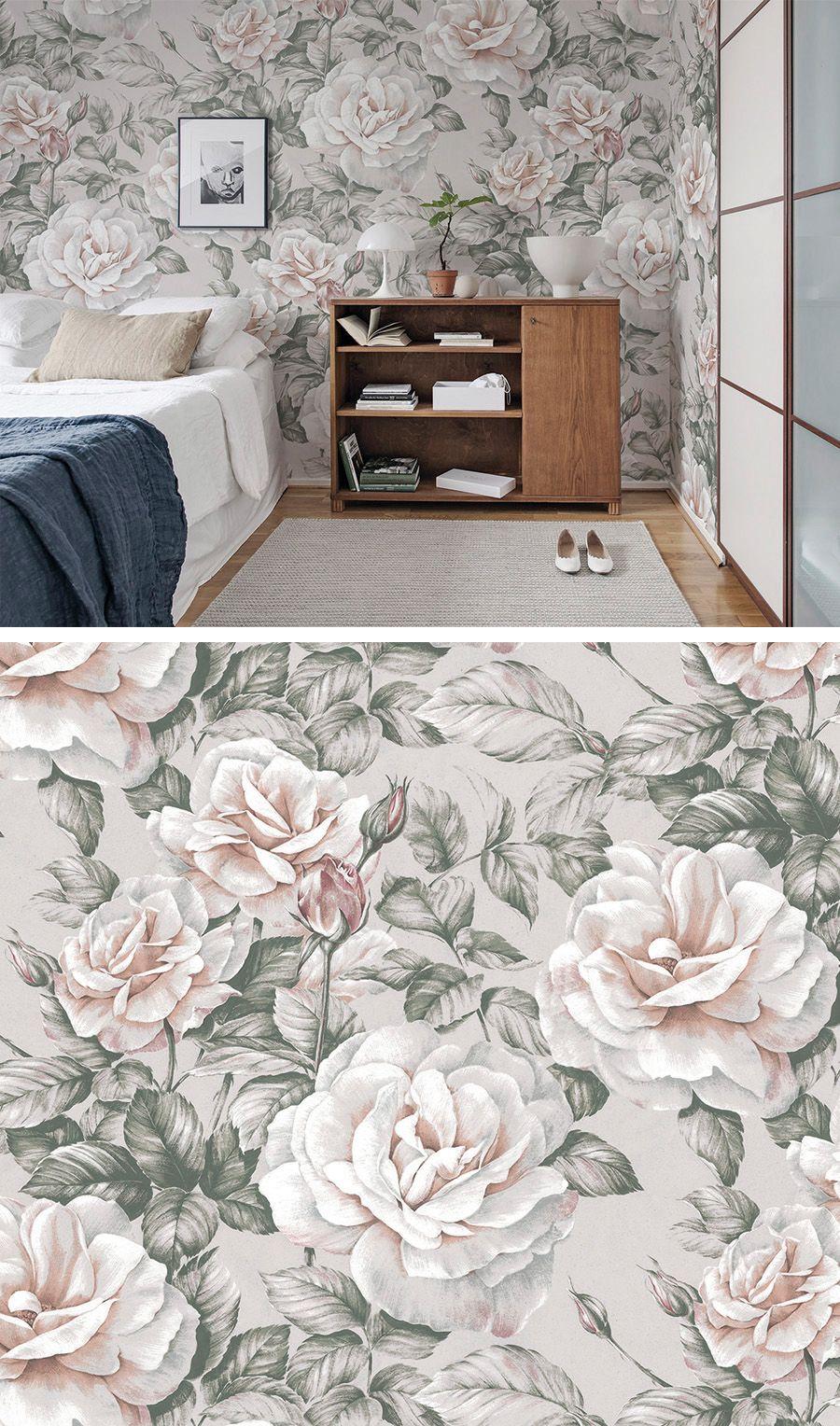 Nude Roses In 2019 Tapeten Fur S Schlafzimmer