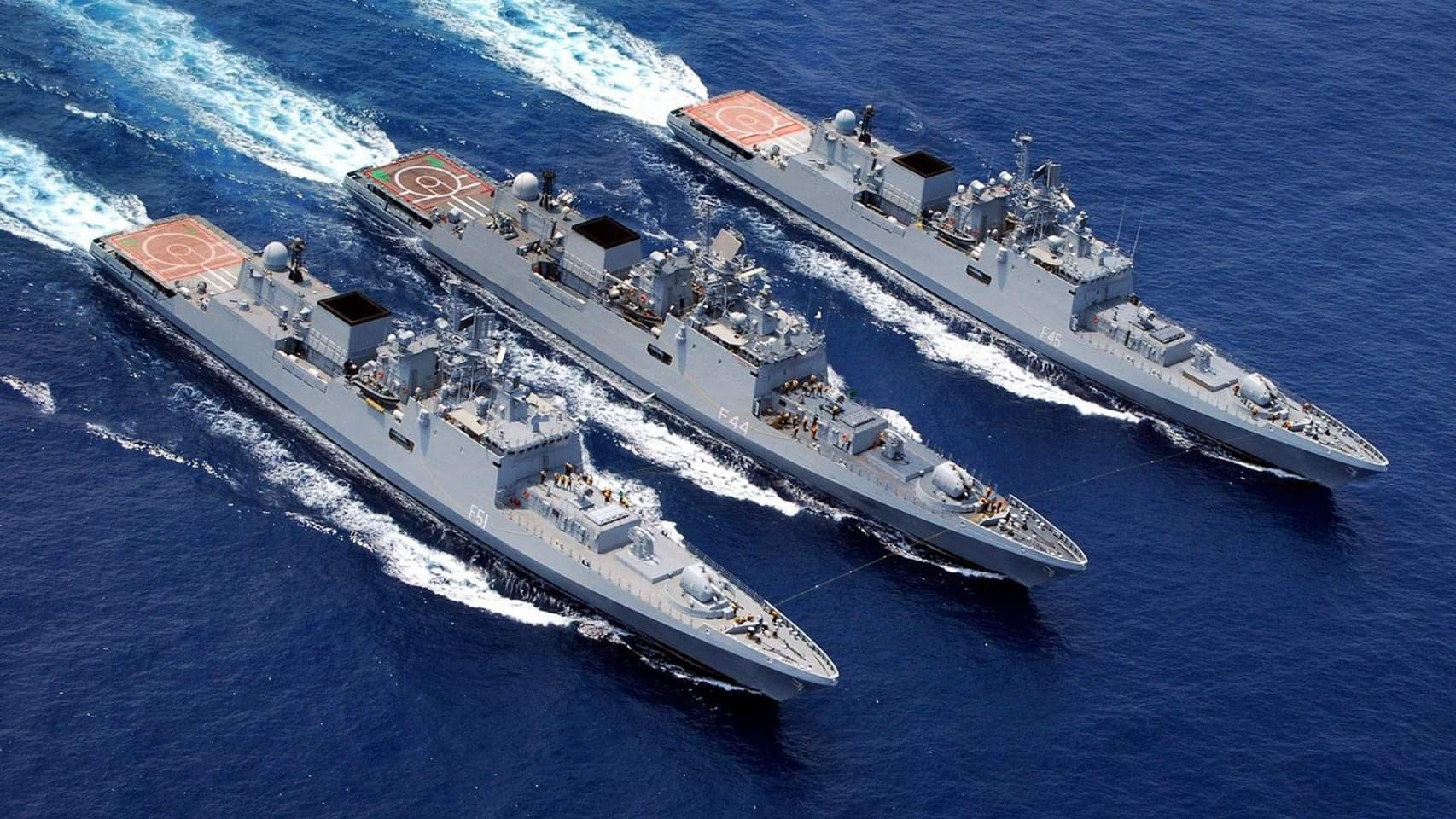 L To R Talwar Frigate Trench 2 1 2 Indian Navy Navy Day Navy Ships