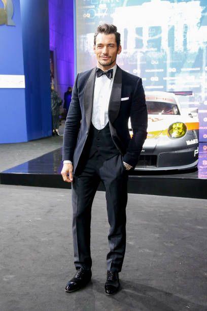 Model David Gandy arrives for the GQ Men of the year Award ...