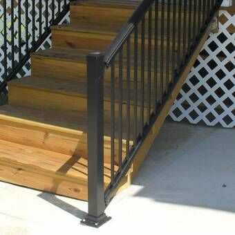 Best 3 Ft H X 6 Ft W Tuscany Treated Stair Deck Railing Panel 640 x 480