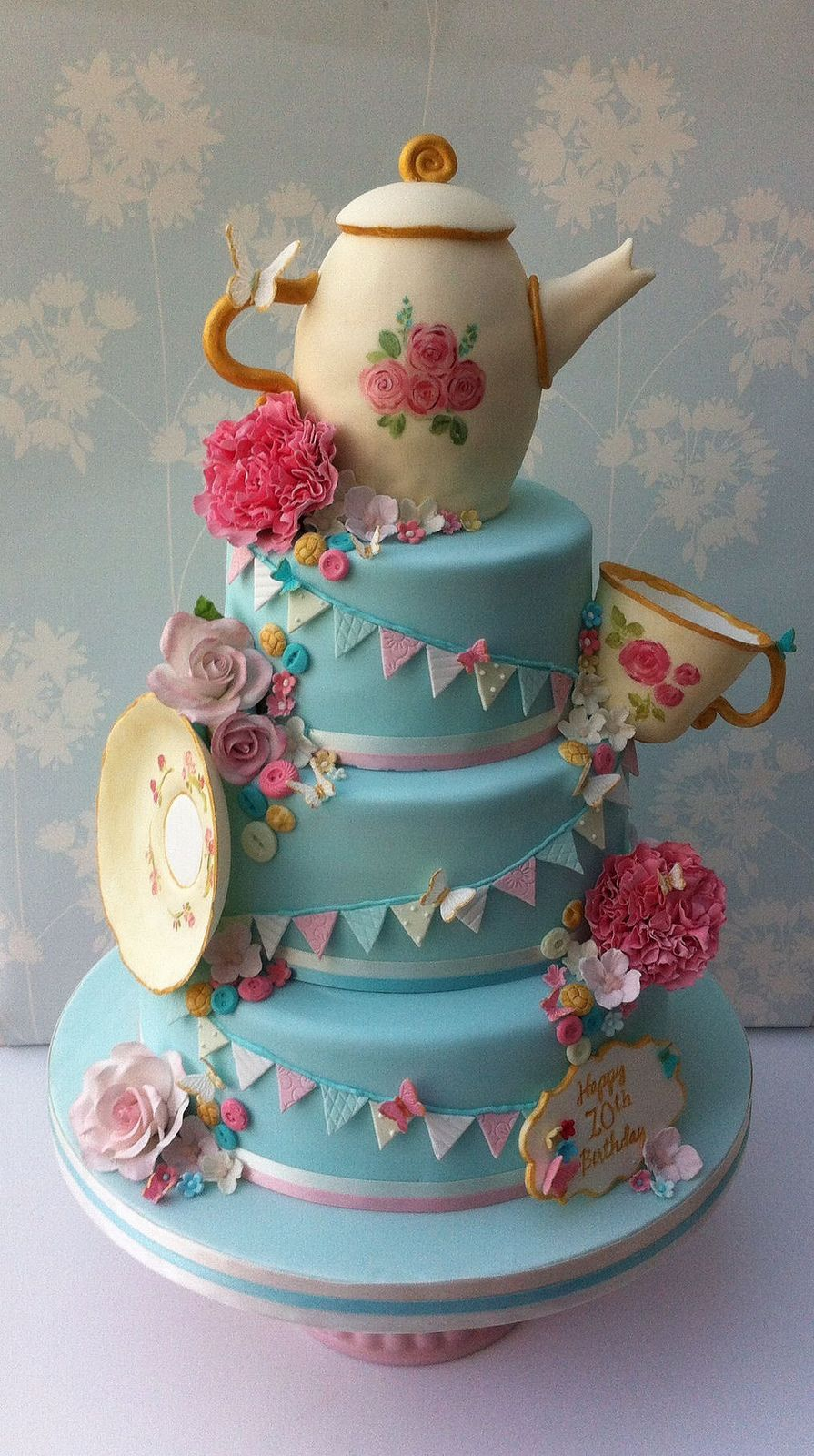 Vintage Tea Party Cake This is the one I want!