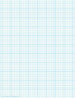 Printable Graph Paper Template With Five Squares Per Inch It Has Smaller Squares And It S Marked Every Printable Graph Paper Graph Paper Grid Paper Printable