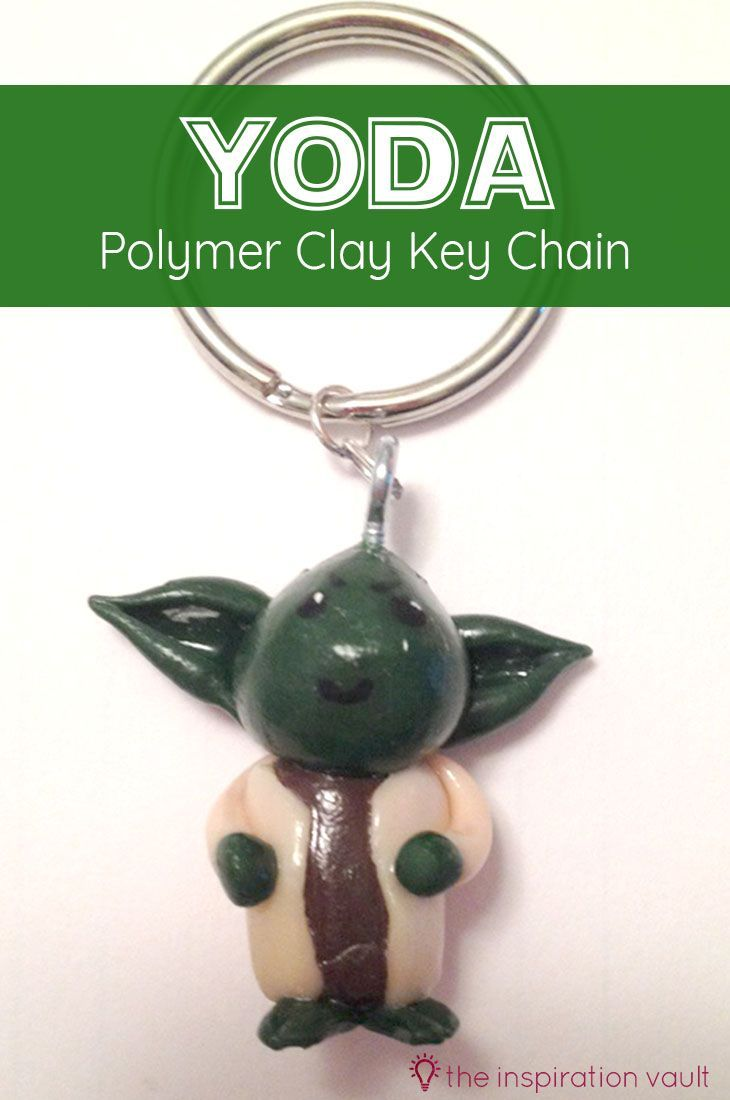 Yoda Polymer Clay Key Chain Crafts Diy Projects Pinterest