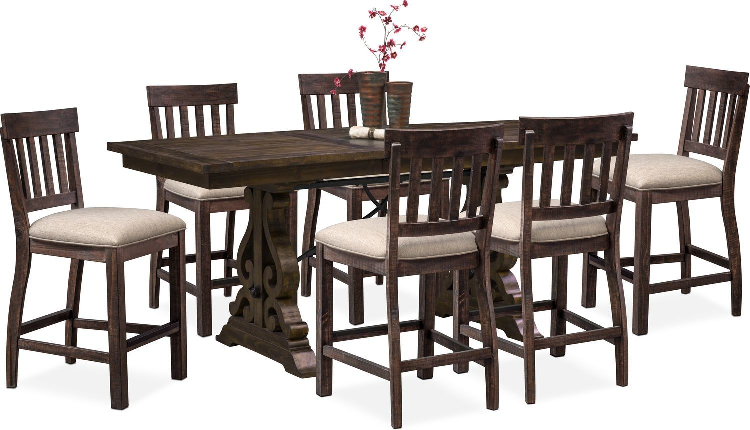 Charthouse Counter Height Dining Table And 6 Stools Counter