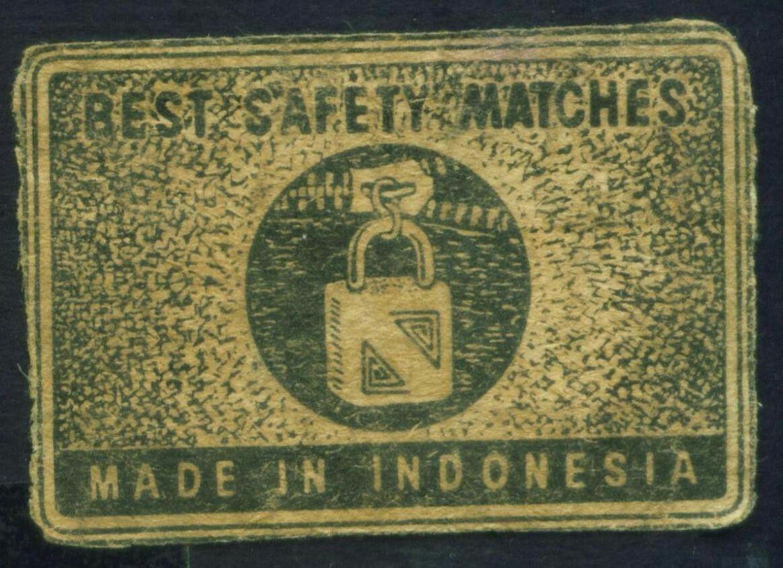 Label Korek api Indonesia Jadul