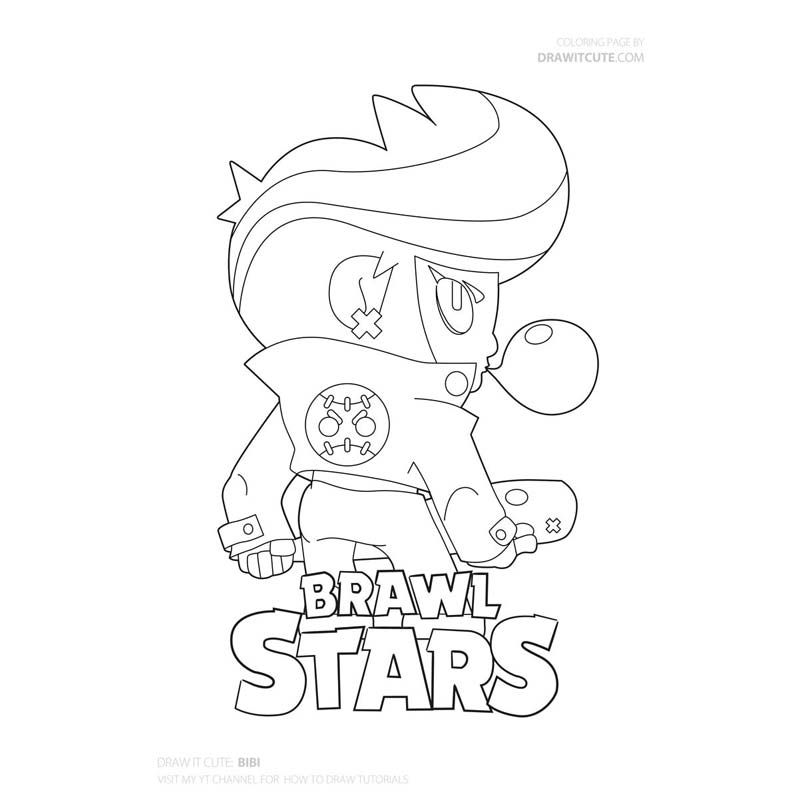 Brawl Stars Archives Color For Fun In 2020 Star Coloring Pages