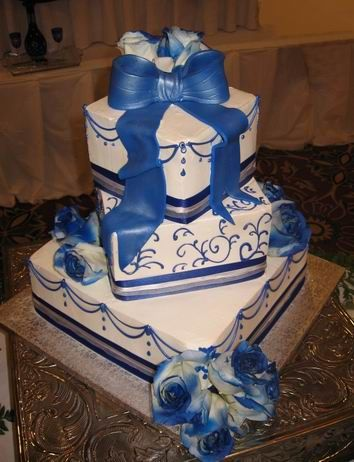 Royal Blue And Purple Wedding Cake Royal Blue Wedding