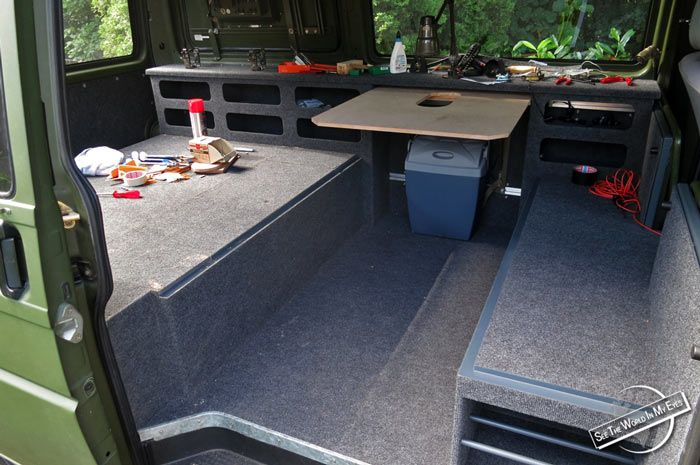 Suv Bed Platform Part - 50: Finishing The Bed Platform And Adding The Removable Table To The Van