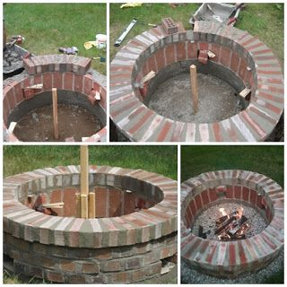 Jemstaa Diy Brick Fire Pit In One Weekend Brick Fire Pit
