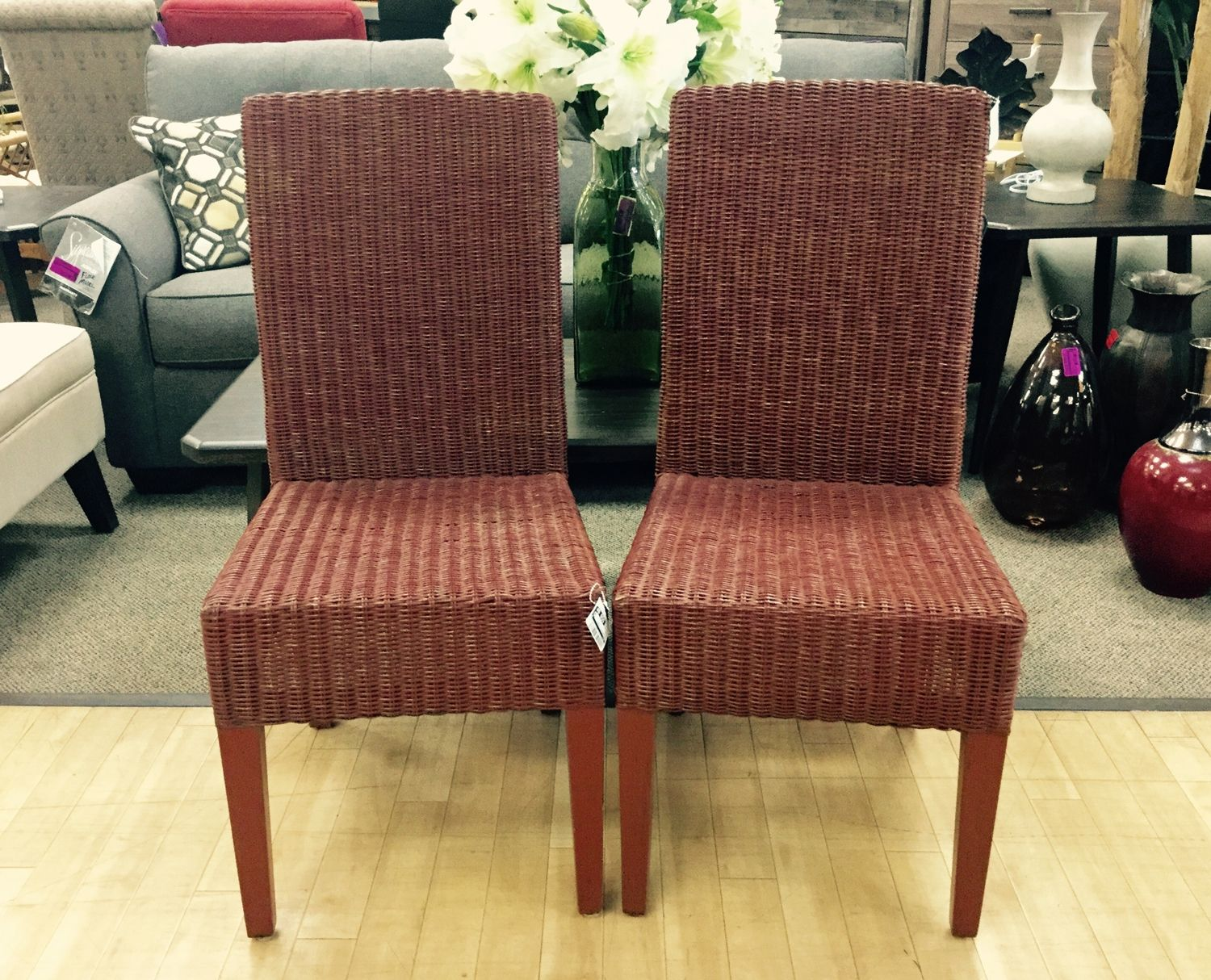 rust colored dining chairs