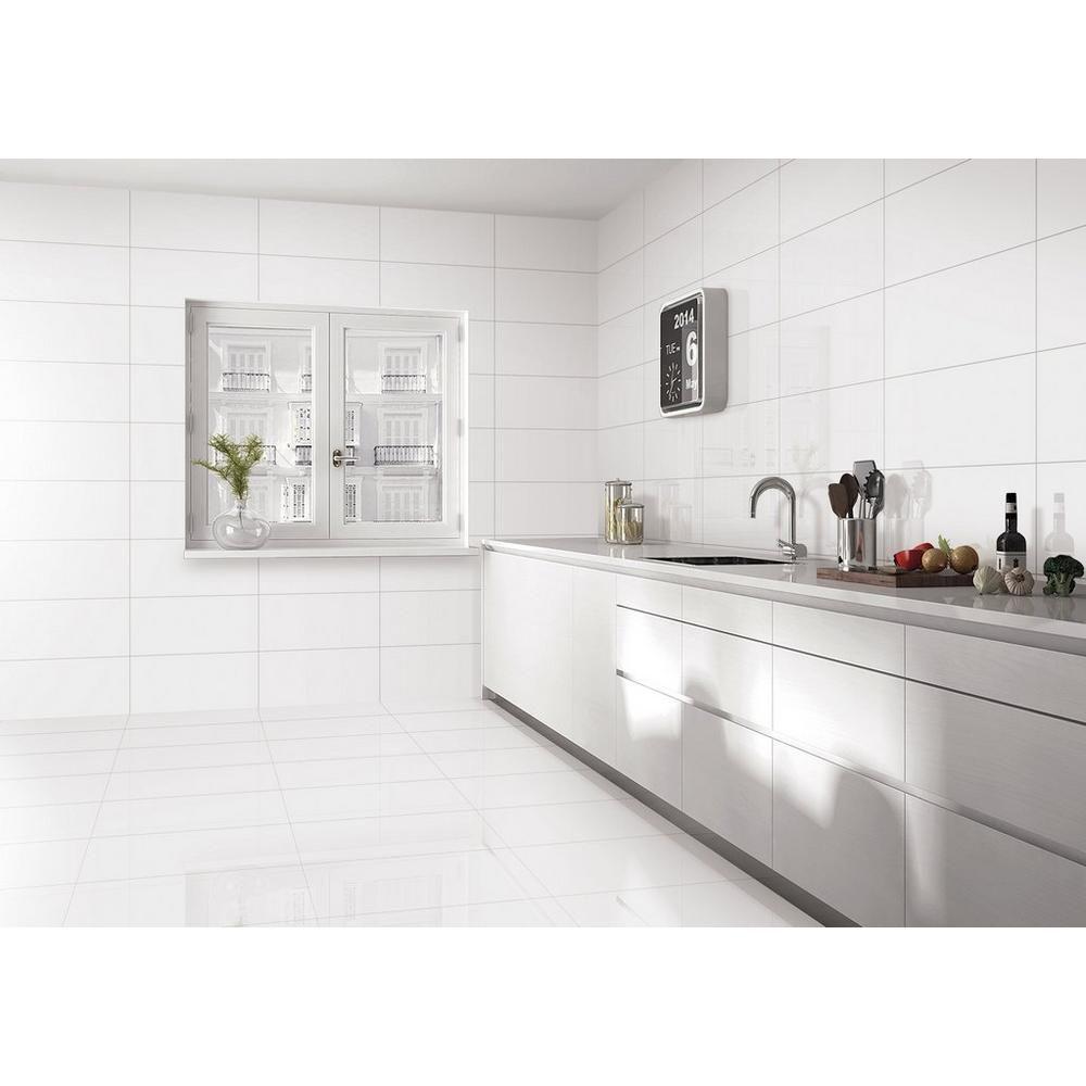 alaskan white porcelain tile floor
